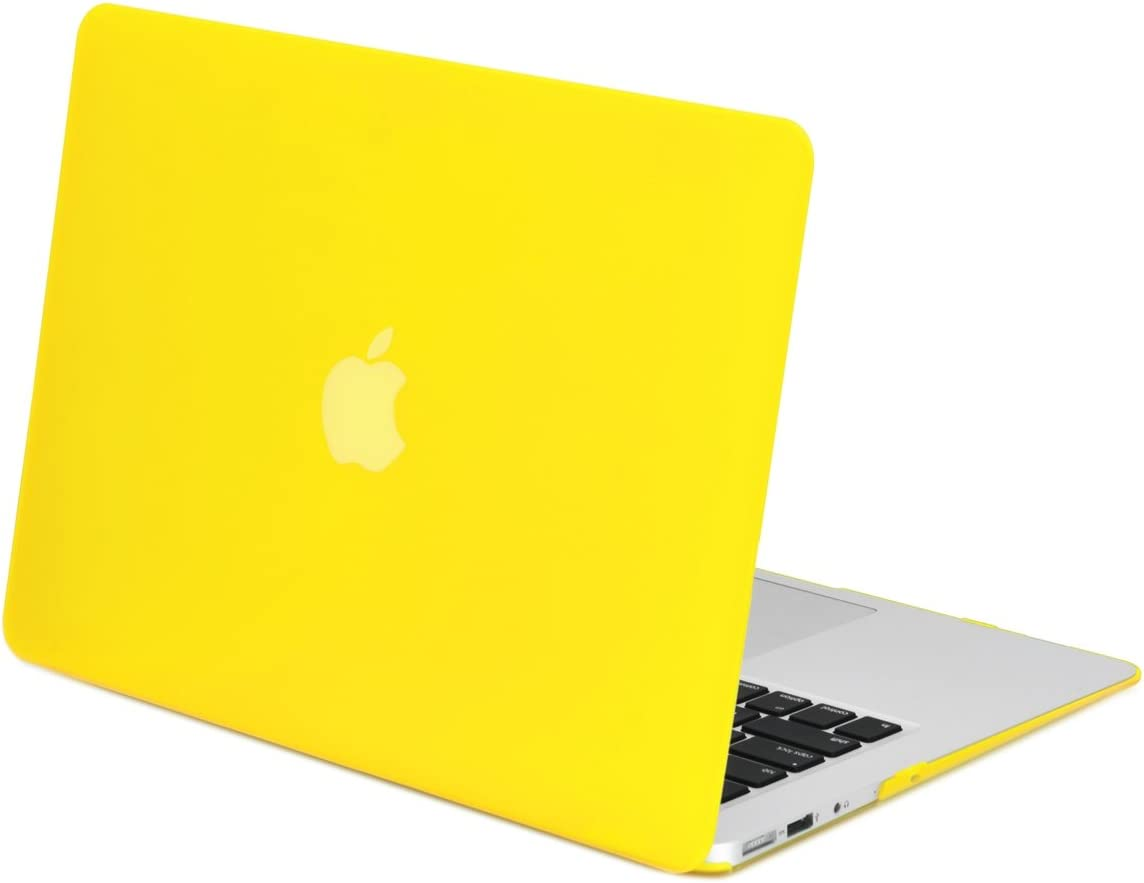 "NEW ARRIVALS! TopCase® Rubberized YELLOW Hard Case Cover for Macbook Air 13"" (A1369 and A1466) with TopCase Mouse Pad"