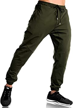 EKLENTSON Pantalones de chándal para hombre, ajuste elástico ...