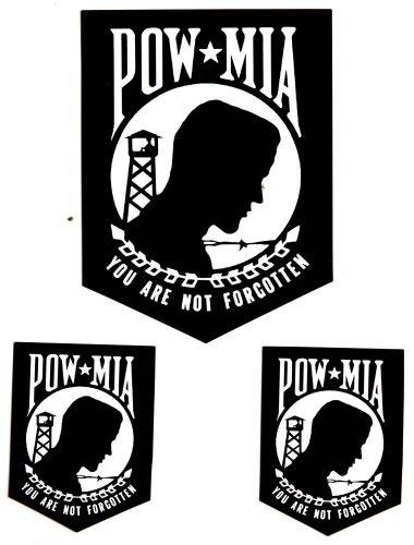 Pow Mia Window Decals (POW MIA You are not Forgotten Sticker)