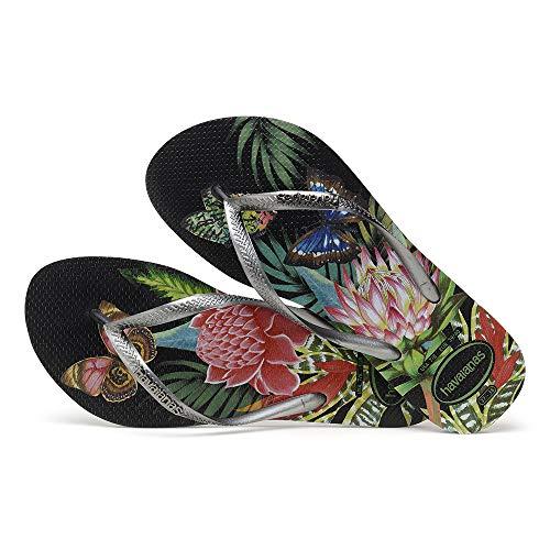 1164 Havaianas Para graphite black Tropical Slim Mujer Chanclas xwB4qU8