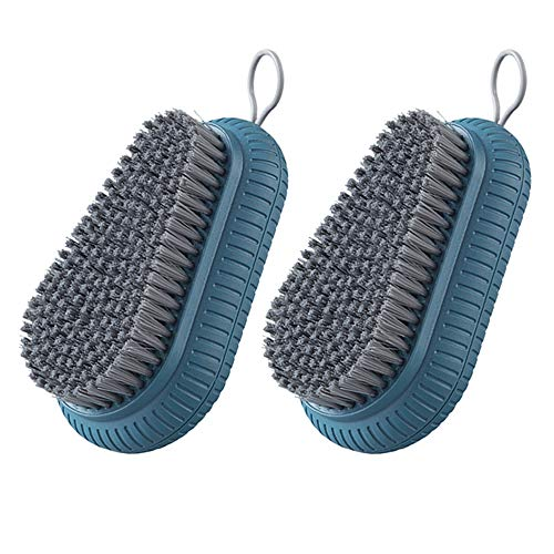 Cleaning Brush, Easy-to-Hold Scrub Brush, Suitable for Shoe Brush,Laundry Brush,Countertops,Bathtubs, Pack of 2