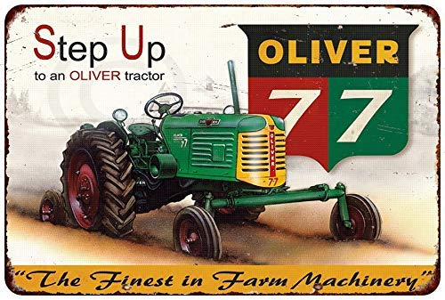 Jesiceny New Tin Sign Oliver 77 Tractor Farm Machinery Vintage Aluminum Metal Sign 8x12 ()