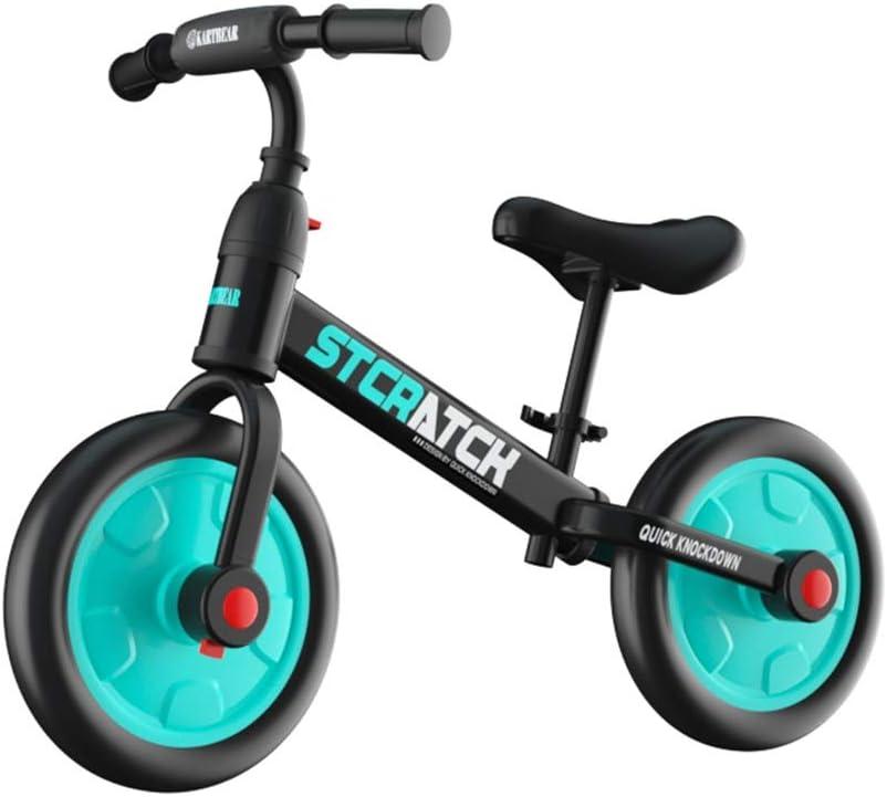 BLWX LY Bicicletas sin Pedals for niños, Bicicleta for Caminar for niños pequeños, Bicicleta de Entrenamiento Deportivo sin Pedal for niños de Edades 2,3,4,5,6 ( Color : Green )