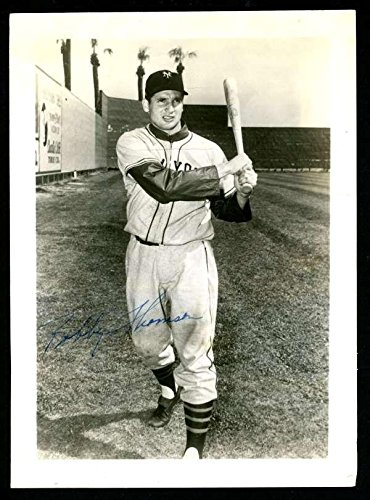 Bobby Thomson 5x7 Photo Authentic On Card Autograph Signature Au9585 - MLB Autographed Baseball Cards (Baseball Signature Thomson)