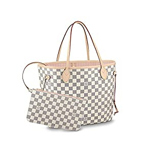 5. Louis Vuitton Damier Azur Canvas Neverfull MM Rose Ballerine