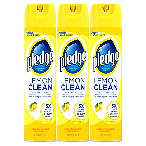 Pledge Lemon Enhancing Polish Yellow,9.7 oz, 3 ct