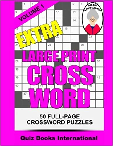 Extra Large Print Crossword Volume 1 Amazon Co Uk Edwards Mike 9781507526927 Books