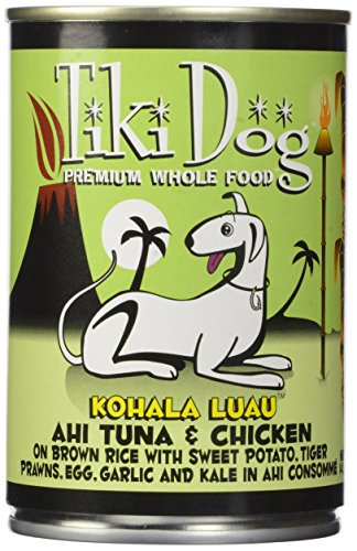 TIKI Dog Canned Food for Dogs, Kohala Ahi and Chicken Recipe (Pack of 12 14-Ounce Cans)