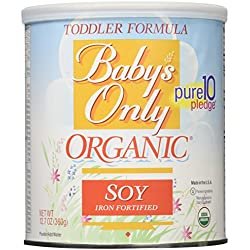 Babys Only Soy Organic Toddler Formula, 12.7-Ounce Canister (Package May Vary)
