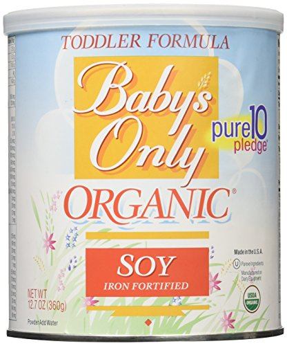 Price comparison product image Babys Only Soy Organic Toddler Formula, 12.7-Ounce Canister (Package May Vary)