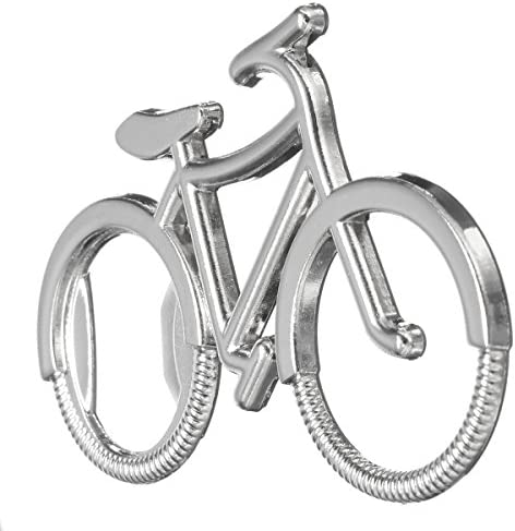 KUNSE Acero Inoxidable Bicicleta Forma Llavero Botella Cerveza ...
