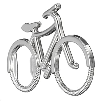 ZHENWOFC Herramienta de acero inoxidable bicicleta forma llavero ...