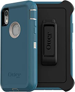 OtterBox DEFENDER SERIES SCREENLESS EDITION Case for iPhone Xr - Frustration Free Packaging - BIG SUR (PALE BEIGE/CORSAIR)
