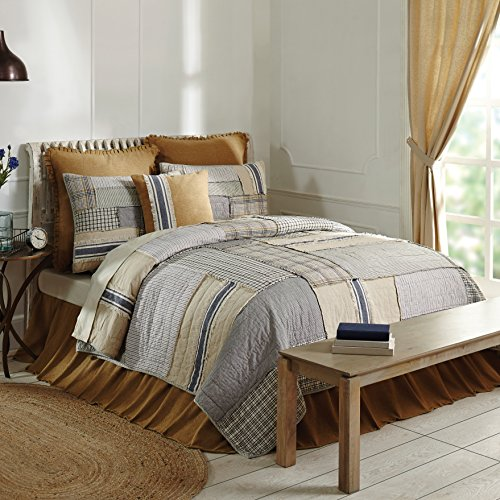 - Piper Classics Mill Creek King Quilt, 95 x 105, Modern Farmhouse Style Bedding, Country Quilted Patchwork Bedding Grain Sack Stripe, Ticking & Plaid Fabrics, 100% Cotton ...