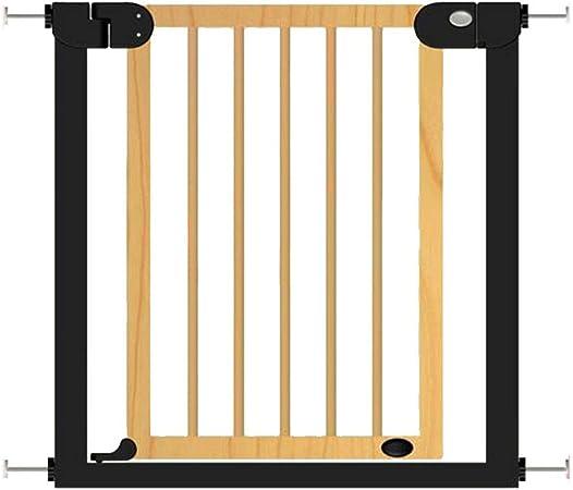 Valla de protección de la escalera de madera maciza cerca de la valla de seguridad del