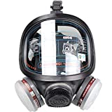 WORKCARE Full Face Respirators, Reusable Protective Silicone Full Face Cover, Ideal for Painting Spray Welding Industrial Accessories