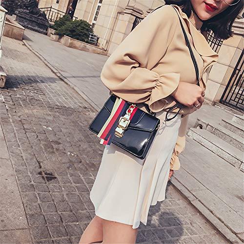 Main Sac Lumineux Les Femmes Trend Main à bandoulière Sac Couleur Femmes Casual Hit fourre Tout Surface Sacs Noir Xuanbao Couleur Sac à Stockage pour Ruban Bleu Diagonal Épaule Femmes Femmes dYxnH8TZ
