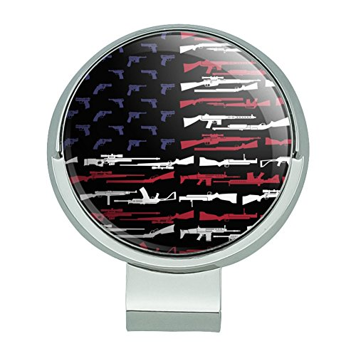 GRAPHICS & MORE American Gun Flag USA Second 2nd Amendment Golf Hat Clip with Magnetic Ball Marker