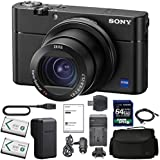SonyCyber-shot DSC-RX100 V Digital Camera with Sony NP-BX1/M8 Battery, Spare NP-BX1 Battery, 64gb SDXC 1200x Card, Card Reader, Carrying case, AC Adapter Bundle Kit - International Version