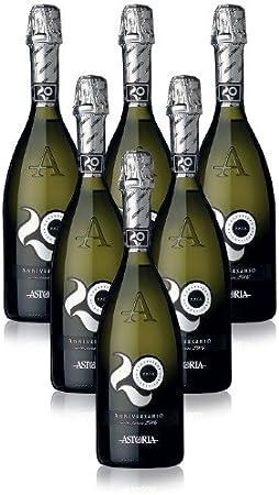 Anniversario Prosecco Conegliano DOCG Astoria Vino Espumoso Italiano (6 botellas 75 cl.)