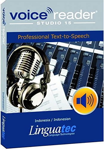 - Voice Reader Studio 15 Indonesia / Indonesian - Professional Text-to-Speech Software (TTS) for Windows/ Convert any text into audio / Natural sounding voices / Create high-quality audio files / Large variety of applications: E-learning; Enrichment of training documents or advertising material; Traffic announcements, Telephone information systems; Voice synthesis of documents; Creation of audio books; Support for individuals with sight disability or dyslexia / This version contains 1 female voice