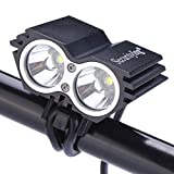 SecurityIng Waterproof 1200 Lumens XM-L U2 LED Bicycle Light 4 Modes Super...