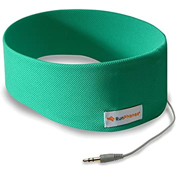 RunPhones Classic Exercise Headphones | Ideal for All Workouts | Precise Sound, Slim Speakers In a Moisture-Wicking Headband |New Model 2017 (Vibrant Green, Medium)