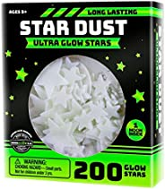 Ultra Brighter Glow in the Dark Stars; Special Deal 200 Count w/ Bonus Moon, Amazing for Children and Toddler