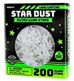 Tools & Hardware : Ultra Brighter Glow in the Dark Stars; Special Deal 200 Count w/ Bonus Moon, Amazing for Children and Toddler Decorations Wall Stickers for Boys! FREE Constellation Guide