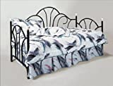 """Brand New Black Color 79""""x39""""x47.8""""H Peacock Day Bed Frame"""