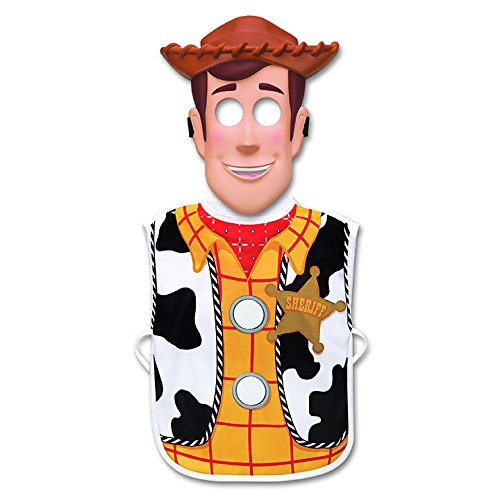 Toy Story Woody Cowboy Gear Dress Up Set - Includes Vest and Mask]()