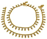 MUCH-MORE Beautiful Gold Plated Multi Stone Payal Indian Anklet Party wear Jewelry (73)