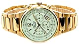 Oskar Emil Gents Phoenix 23K Gold Chronograph Sports Watch with Cream Dial RRP $400