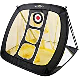 PodiuMax Square Pop Up Golf Chipping Net, Indoor/Outdoor Golfing Target Net Accuracy Swing Practice, Portable