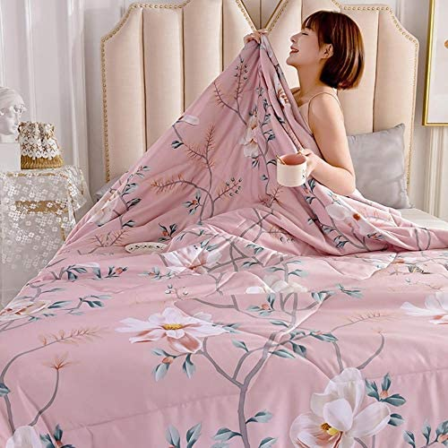 WOAINI Quilts d'été, Kuscheldecke Baby Tagesdecke, Decke Queen Size Quilt Bedding Ultra Soft Microfiber Bed Quilts Quilted Coverlet 200x230cm F