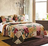Greenland Home Antique Chic Quilt Set, Full/Queen, Natural