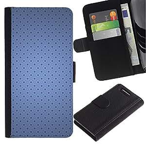 Paccase / Billetera de Cuero Caso del tirón Titular de la tarjeta Carcasa Funda para - Blue pattern - Sony Xperia Z1 Compact D5503