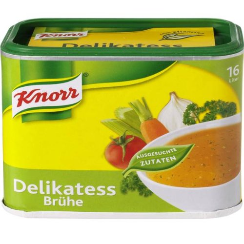 Knorr Instant Clear Broth (Delikatess Bruehe) -Pack of 2 X Containers