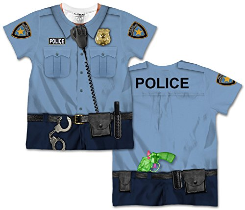 [Toddler: Policeman Costume Tee (Front/Back) Baby T-Shirt Size 2T] (Policeman Uniform)