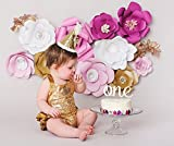 PoshPeanut One Cake Top Handmade in the USA 1st Birthday Cake Topper Beautiful Decoration in Cursive