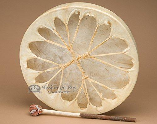 Native American Style Hand Drum 16'' -Rawhide