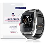 iLLumiShield - Asus Zenwatch 2 49mm Screen Protector Japanese Ultra Clear HD Film with Anti-Bubble and Anti-Fingerprint - High Quality Invisible Shield - Lifetime Warranty - [3-Pack]