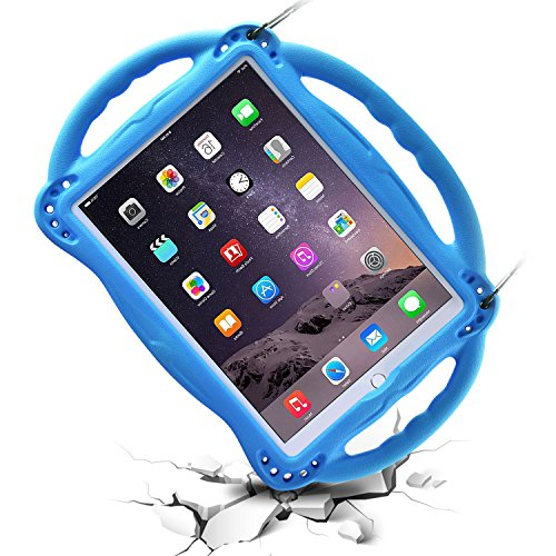 BMOUO Kids Case for New iPad 9.7 inch 2017/2018 - Shoulder Strap Shockproof Handle Stand Case for iPad 9.7 inch 2017/iPad 9.7 inch 2018/iPad Air/iPad Air 2 - Blue by BMOUO (Image #3)