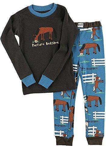 Pasture Bedtime Boy Kids Long Sleeve Pajama Sets by LazyOne   Fun Soft Animal Pajamas ()