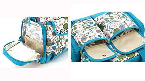 Bolsa de la momia, de gran capacidad multifuncional para ser producido bolsa de la madre del bebé, las mujeres embarazadas del hombro fuera de la madre paquete de moda ( Color : Negro ) Azul