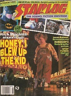 Starlog #181 (NM) Honey I Shrunk the Kids, Robocop 3, Isaac Asimov