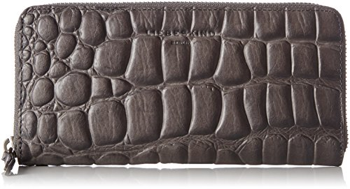 Liebeskind Berlin Women's GigiW7 Croco Embossed Leather Zip Around Wallet Wallet, Rock Grey, One Size by Liebeskind Berlin