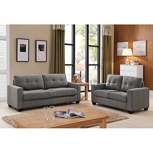 U.S. Pride Furniture Carly 2 Piece Loveseat and Sofa Set