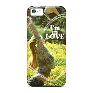New Premium LauraKrasowski Love Skin Cases Covers Excellent Fitted For Iphone 5c