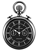 KS Classic Roman Numerals Markers Chronograph Function Quartz Pocket Watch KSP093